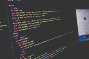 html code on a text editor