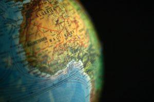 globe of the world focus on Africa